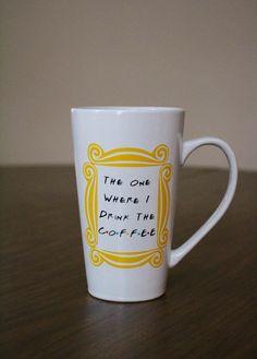 FRIENDS TV Show inspired Tall Coffee Mug The by GavlanDesigns