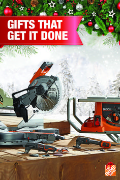 The RIDGID Heavy Duty Table Saw and Dual Bevel Mitre Saw with Laser don't just deliver the best in class performance, they also deliver the best smiles when unwrapped on Christmas morning! Learn more at homedepot.ca.