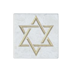 #Golden 3-D Star of David Stone #Magnet...#kitchen #accessories #interiordesign #interiordecoration #products #forsale #home #housewares #RoseSantuciSofranko #Artists4God #designer #customizable #Zazzle #artistic #Jewish #Judaica #StarOfDavid