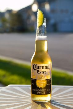 Corona beer, Mexico. Very refreshing ....always add a slice of lime