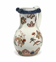 A Dutch Delft Dore Small Puzzle Jug, 1705–20, ATTRIBUTED TO PIETER ADRIAENSZ KOCX AT DE GRIEKSCHE A. Sold at Christie's, New York, The Collection of Benjamin F. Edwards III (Sale 2388, lot 275) 26 January 2010, $8125.