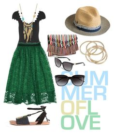 """""""Summer"""" by jalepe on Polyvore featuring mode, ASOS, Marysia Swim, Overland Sheepskin Co., ABS by Allen Schwartz, WithChic, Stella & Dot et Gucci"""