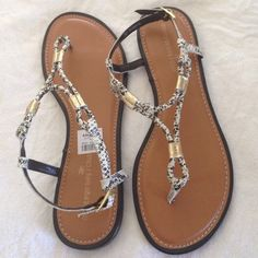 New with tags sandals New with tags. All man made materials. Ankle sling with adjustable strap. Lightly padded. Montego Bay Club Shoes Sandals