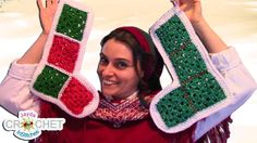 Make a vintage granny square Christmas stocking! You need 8 granny squares for one stocking. How To Join Your Squares Tutorial: . Christmas Yarn, Christmas Squares, Christmas Minis, Christmas Crafts, Crochet Christmas, Christmas Stuff, Christmas Ideas, Granny Square Crochet Pattern, Crochet Granny
