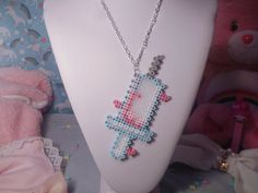 Kawaii Syringe Necklace by Weeabootique on Etsy, $10.00