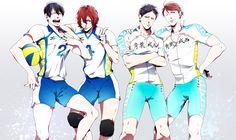 Pixiv Id Yowamushi Pedal, Haikyuu! Iwaizumi Hajime, Iwaoi, Yowamushi Pedal, Anime Crossover, Kuroko, Superwholock, All In One, Haikyuu, Manga Anime
