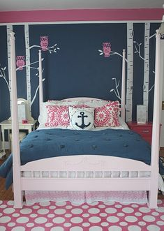 navy pink room! This will be at Aunt Alicia's house.. LOL