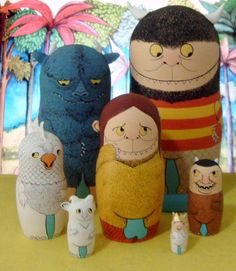 Where The Wild Things Are Nesting Dolls