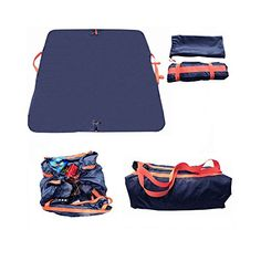 Multifunction Waterproof Folding Outdoor Camping Picnic Mat  575x575 Travel Storage Bag  Beach Blanket AllinOne by TomFactor Blue ** Details can be found by clicking on the image. (This is an affiliate link) #TravelSleppingBagsandCampBedding