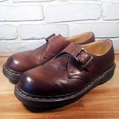 DOCTOR Doc Dr. MARTEN Men's Shoes ~ Brown Leather Side Buckle Oxfords ~ US 8 M  #DrMartens #Oxfords