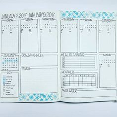 Like the meal planning in the weekly spread