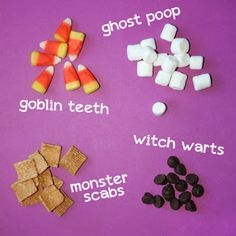 snack mix graphing for Halloween