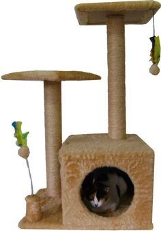 Arranhadores para gatos                                                                                                                                                                                 Mais Cat Noises, Cat House Diy, Animal Gato, Cat Towers, Cat Playground, Cat Tunnel, Cat Condo, Miffy, Pet Home