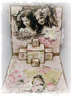 Cards made by Chantal: Vintage pop up card