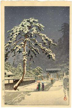 "HASUI -- ""Ikegami Honmonji Temple"""