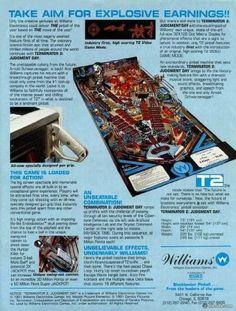 Terminator 2: Judgment Day Pinball Machine (Williams, 1991)   Pinside Game Archive