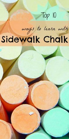 Learning with sidewalk chalk - some great easy ideas.