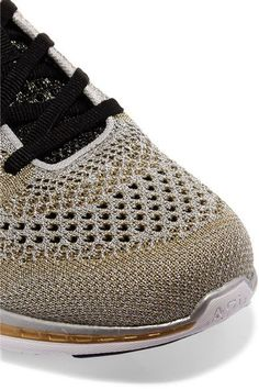 Athletic Propulsion Labs - Techloom Pro Metallic Mesh Sneakers - Gold - US10.5