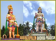 99 feet height sky-touch superb colorful statue of Lord Abhaya Anjaneya Swami is located in Dakshina Tirumala Devasthanam at Abbirajupalem comes under Elamanchili (or Yelamanchili) mandal belongs to West Godavari district in the Indian state of Andhra Pradesh. Abbirajupalem is situated 100 kms east from the district headquarters Eluru and 450 kms from the state capital city Hyderabad. Dakshina Tirumala Devasthanam is located in midst of green coconut belt on the banks of River Vasistha…