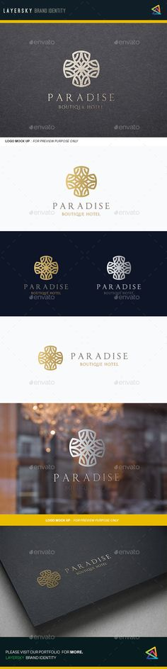 Paradise Boutique Hotel Logo Template #design #logotype Download: http://graphicriver.net/item/paradise-boutique-hotel/11892123?ref=ksioks