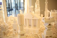 Lego structures at the Olafur Eliasson exhibition at the Dunedin Public Art Gallery. #LEGOdpag