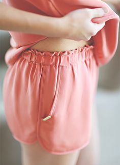 silk shorts - love the waistband! LAKE women's loungewear and pajamas