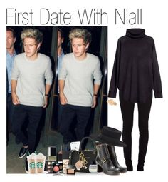 """First Date With Niall (Requested)"" by one-direction-outfitsxxx ❤ liked on Polyvore featuring Burberry, Versace, Christian Dior, Topshop, Yves Saint Laurent, Marc Jacobs, LORAC, Louis Vuitton, Chloé and H&M"