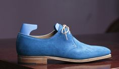 John Lobb Willoughby for Paul Smith in Blue Cashmere Suede