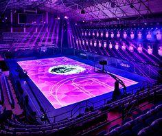 Nike Unveils TRON like LED Digital Basketball Court for Kobe Bryant China Tour 2014