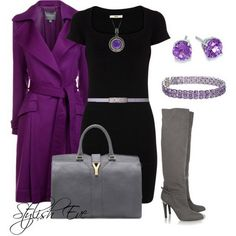 Purple,Black and Gray ok I need this outfit.