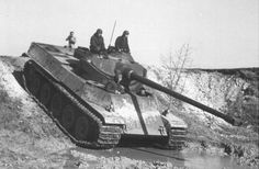 The cancelled French heavy tank AMX-50, inspired by the german King Tiger, and which featured the oscillating turret used in the AMX-13 and SK-105 light tanks, among other smaller vehicles.