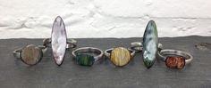 handmade metalwork enamel rings | Esma Jewelry