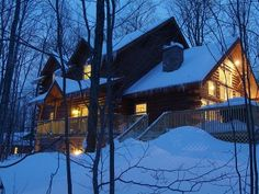 3,200 Sq. Ft. Ski-in/Ski-Out Luxury Log Home with Hot TubVacation Rental in Boyne Highlands from @HomeAway! #vacation #rental #travel #homeaway