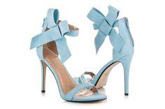Niebieskie Sandałki Zapinane Na Suwak Ideal Shoes