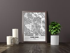 Excited to share the latest addition to my #etsy shop: Garland map print, Minimalistic wall art poster, Texas gifts, Birthday Gift, For father, Father Black And White Wall Art, Black And White Posters, Black White, Bathroom Artwork, Artwork Prints, Poster Prints, Art Posters, Coventry Map, Father Father
