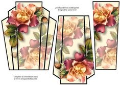 Art Deco Stacker Topper Autumn Blush Roses on Craftsuprint - View Now! Pastel Roses, Blush Roses, Pink Roses, Card Making Designs, Autumn Rose, 3d Sheets, 3d Cards, Christmas Bells, Flower Cards