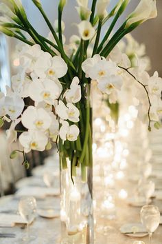 Stand out with this large arrangement of white lilies and orchids. Wedding Ceremony, Reception, Grand Hyatt, Centerpieces, Table Decorations, White Lilies, Wedding Table Settings, Atlanta Wedding, Photo Look