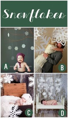 Winter Photography Prop Ideas... Snowflakes!