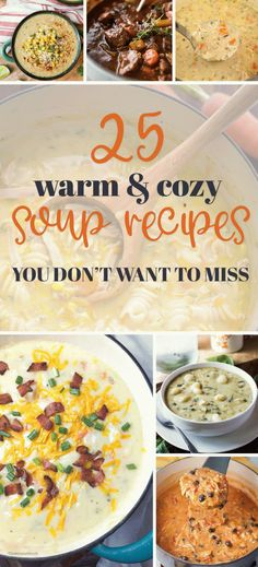 Your family will love these delicious fall soups! Easy Soup Recipes, Cooking Recipes, Healthy Recipes, Amish Recipes, Healthy Soup, Sweets Recipes, Yummy Recipes, Recipies, Yummy Food