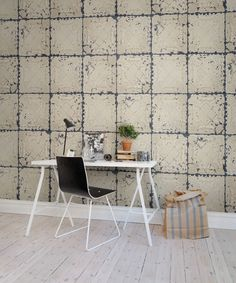 Hey, look at this wallpaper from Rebel Walls, Tin Plates Nebraska! #rebelwalls #wallpaper #wallmurals