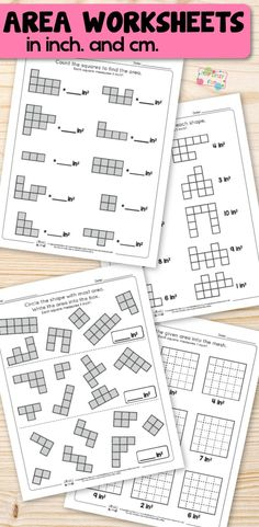 Area worksheets for 2nd grade. Fun 2nd grade math worksheets.