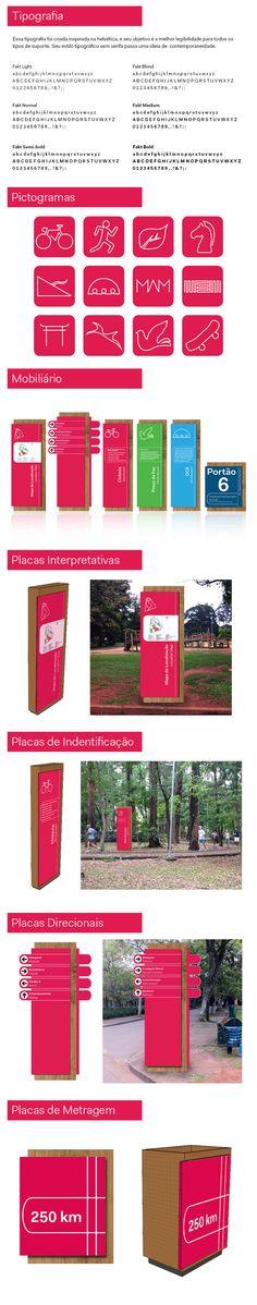 Projeto de Sinalização Parque Ibirapuera on Behance