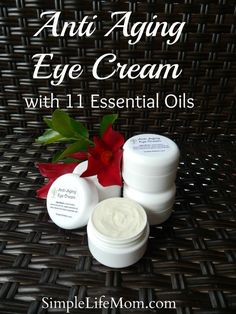 Anti Aging Eye Cream with 11 essential oils tailored to heal, rejuvenate, soothe, clarify, and increase the elasticity of your skin. DIY Recipe or buy. Anti Aging Eye Cream with 11 Creme Anti Age, Anti Aging Eye Cream, Anti Aging Tips, Anti Aging Skin Care, Natural Skin Care, Natural Beauty, Peeling, Homemade Beauty Products, Belleza Natural
