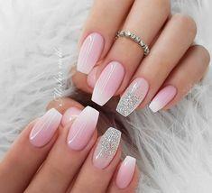 Ombre Nail Designs, Acrylic Nail Designs, Nail Art Designs, Cute Nails, Pretty Nails, Pink Nails, Gel Nails, Nail Polish, Nagel Hacks
