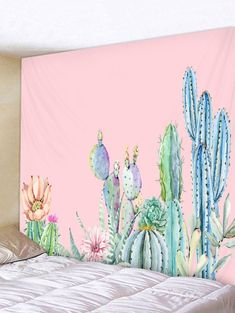 cactus flower blooms once a year Cheap Wall Tapestries, Hanging Wall Art, Tapestry Wall Hanging, Hanging Plants, Cactus Rose, Cactus Art, Cactus Plants, Office Deco, Decoration Cactus