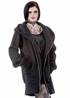 Queen of Darkness Star Hood Jacket   Attitude Clothing