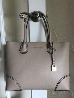 Authentic Michael Kors Mercer Gallery Medium EW TZ Tote Oat Leather Receipt    eBay b8be21da66