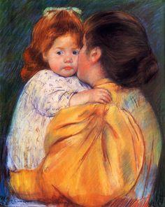Maternal Kiss,  Mary Cassatt - 1895-1896