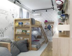 Mostra Casapronta quartos 2016 Projeto do quarto da casa da Vovó por D Trend Arquitetura  #design #decor #casaprontaquartos #casapronta #quartos  #wood #bed #camas quarto infantil quarto de criança beliche kids rooms