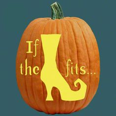 "One of 700+ FREE stencils for pumpkin carving and more! www.pumpkinlady.com ""If the Heel Fits..."" #FreePumpkinCarvingPattern"